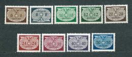 Poland 1940, GG / Generalgouvernement, Dienst MiNr 16-24 ** MNH - Complete Set - 1939-44: 2ème Guerre Mondiale