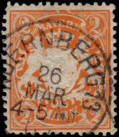 Bavaria 1881-1903 2m On White Paper, Vertical Wavy Line Watermark Fine Used. - Bavaria