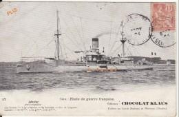 Série:  Flotte De Guerre Française. Aviso-torpilleur Lévrier. Pub Chocolat Klaus  Usines Au Locle (Suisse)- Morteau(25) - Warships