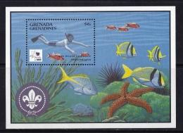Grenada Grenadines  (Sc # 1725), MNH, (Souvenir Sheet Of 1), 18th World Boy Scout Jamboree, Holland   (1995) - Grenada (1974-...)