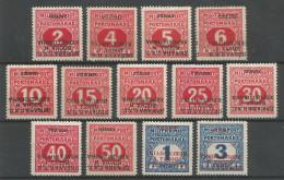 Bosnia / Bosnien / Jugoslawien / Yugoslavia - Mi.Porto 1/13K INVERTED OVERPRINT Complete Set - MH / * 1918 - Portomarken