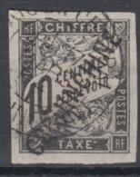 #103# COLONIES GENERALES TAXE N° 6 Oblitéré Surchargé Cochinchine - Portomarken