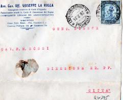 CARTOLINA POSTALE PUBBLICITARIA-AVV.CAV.UFF.GIUSEPPE  A ROCCA-CONSIGLIERE ONORARIO -TRIPOLI-26-2-1824 - Libya