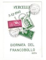 CARTOLINA COMMEMORATIVA DI VERCELLI - 3 - Vercelli