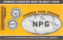 Armed Forces Day 18 May 1968 - US Navy Station NPG Cross Band Comm. Test - 20M CW - Radio Amateur