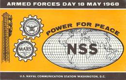 Armed Forces Day 18 May 1968 - US Navy Station NSS Cross Band Comm. Test - 75M A3A - Radio Amateur
