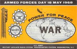 Armed Forces Day 18 May 1968 - US Army Station WAR Cross Band Comm. Test - 40M CW - Radio Amateur