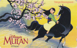 Télécarte Japon  / 110-203285 - DISNEY - FILM - MULAN - Japan Movie Phonecard Telefonkarte - Disney
