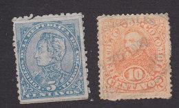 Colombia, Scott #130-131, Used, Simon Bolivar, Pres Rafael Nunez, Issued 1886 - Colombie