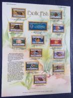 Penrhyn 1974 Fishes Fish - Mint Stamps On Panel - Scott 50/62 = 16.34 $ - Penrhyn