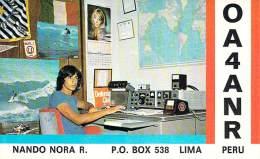 Amateur Radio QSL Card - OA4ANR - Lima, Peru - 1978 - 2 Scans - Radio Amateur