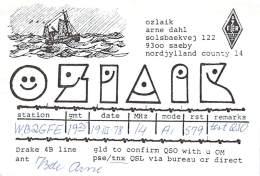 Amateur Radio QSL Card - OZ1AIK - Saeby, Denmark - 1978 (paper Card) - Radio Amateur