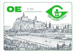 Amateur Radio QSL Card - OE6HZG - Grax, Lendkai Austria - 1978 On 21MHz  - 2 Scans - Radio Amateur
