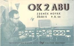 Amateur Radio QSL Card - OK2ABU - Czechoslovakia - 1978 - 2 Scans - Radio Amateur