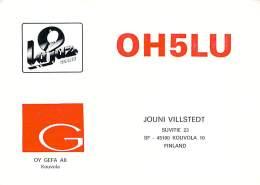 Amateur Radio QSL Card - OH5LU - Kouvola, Finland - 1978 - 2 Scans - Radio Amateur