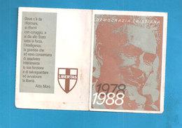 TESSERA DEMOCRAZIA CRISTIANA   1988 - ANNULLATA - Organizzazioni