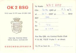 Amateur Radio QSL Card - OK2BSG - Rosice, Czechoslovakia - 1978 - Radio Amateur