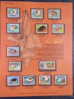 Aitutaki 1974 Shells - Mint Stamps On Panel - Scott 82/94 = 28.95 $ - Aitutaki