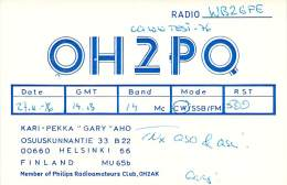 Amateur Radio QSL Card - OH2PQ - Helsinki, Finland - 1976 - Radio Amateur