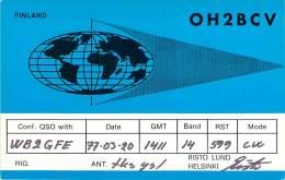 Amateur Radio QSL Card - OH2BCV - Helsinki, Finland - 1077 - Radio Amateur