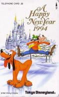 Télécarte Japon / 110-150926 - DISNEY - NOUVEL AN  HAPPY NEW YEAR 1994 ** ONE PUNCH ** - Chien Chiens - Japan Phonecard - Disney