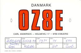 Amateur Radio QSL Card - OZ8E - Esbjerg, Denmark - 1977 - Radio Amateur