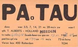 Amateur Radio QSL Card - PA0TAU - Alberts, Holland - 1977 - Radio Amateur