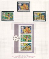 Cook Islands -Aitutaki SG 434-436MS 1983 75th Anniversary Oif Scouts Movement MNH - Cook