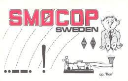 Amateur Radio QSL Card - SM0COP - Sweden - 1977 - 2 Scans - Radio Amateur