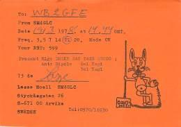 Amateur Radio QSL Card - SM4GLC - Arvika, Sweden - 1978  (paper Card) - Radio Amateur
