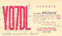 Amateur Radio QSL Card - YO7DL - Romania - 1978 - Radio Amateur