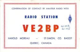 Amateur Radio QSL Card - VE2BP - Quebec CANADA - 1976 - 2 Scans - Radio Amateur