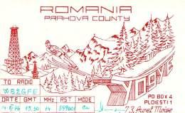 Amateur Radio QSL Card - YO9YE - Ploiesti, Romania - 1976 - Radio Amateur