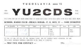 Amateur Radio QSL Card - YU2CDS - Djakovo, Yugoslavia - 1976 - Radio Amateur