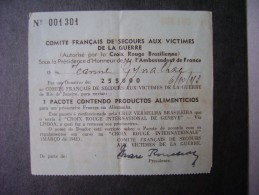 BRAZIL - FRENCH COMMITTEE OF THE WAR VICTIMS RELIEF - Vecchi Documenti