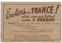 BUVARD ECOLIERS DE FRANCE .  VARRON. - Agriculture