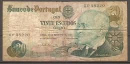 Billet Du Portugal De 1978 ( 20 Escudos ) - Portugal