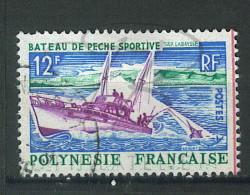 VEND BEAU TIMBRE DE POLYNESIE N°38 , TRAIT ROUGE A DROITE !!!! - Polinesia Francese