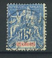 """VEND BEAU TIMBRE DE LA REUNION N°37 , CACHET """"SAINT-PAUL"""" !!!! - Réunion (1852-1975)"""