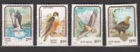 INDIA, 1992,  Birds Of Prey, Set 4 V Complete,  Eagle, Falcon,Osprey, Lammergeier, MNH, (**)