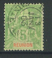"""VEND BEAU TIMBRE DE LA REUNION N°46 , CACHET """"SAINTE-ANNE"""" !!!! - Réunion (1852-1975)"""