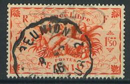 VEND BEAU TIMBRE DE LA REUNION N°240 , CACHET CONVOYEUR !!!! - Réunion (1852-1975)