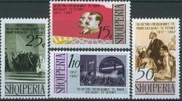 ALBANIA 1967, 50 Years OCTOBER REVOLUTION, LENIN, STALIN, COMPLETE, MNH SET, GOOD QUALITY, *** - Albania