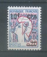 VEND BEAU TIMBRE DE LA REUNION N°349A , SURCHARGE DEFECTUEUSE , XX !!!! - Isola Di Rèunion (1852-1975)