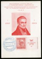 A4087) CSR Czechoslovakia Sonderkarte 22.9.1937 - Briefe U. Dokumente