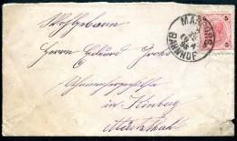 Brief, Ganzsache Von Marburg, Slowenien,Stempel : Bahnhof, 2.12.1898 Nach Kindberg (Österreich) - Eslovenia