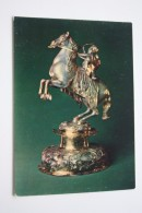 OLD Soviet  Postcard  - Silver Goblet  - CUPID ON HORSE - Arch - Archer  - 1979 - Tir à L'Arc