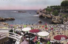 BIARRITZ - PYRENEES ATLANTIQUES-  (64)   - CPSM DENTELEE TRES ANIMEE - Biarritz