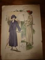 1922  Grande Gravure De Mode Le Cachet De Paris (Marcel Pannetier ,Chantraine-Epinal) :1611 Chez Francis,1612 Un Modèle - Lithographies