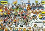 """CYCLISME  """" TOUR DE FRANCE 1984  / BANANIA  """" ETAPE N° 2  """" ILLUSTREE PAR GUERRIER  CPSM / CPM  10 X 15   TTBE - Otros Ilustradores"""